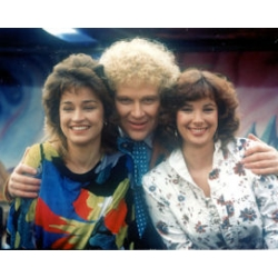 Dr Who Colin Baker Janet Fielding Nicola Bryant Photo