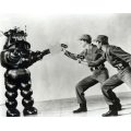 Forbidden Planet Leslie Nielsen Robby the Robot Photo